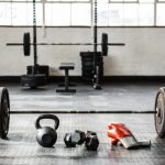 Exercise equipment in the studio at crossfit gym